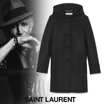 Saint Laurent Street Style Plain Duffle Coats