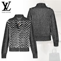 Louis Vuitton Short Casual Style Cashmere Blended Fabrics Long Sleeves
