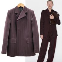 CELINE Stripes Wool Medium Elegant Style Bold Jackets