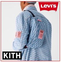 KITH NYC Denim Street Style Collaboration Messenger & Shoulder Bags