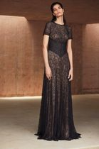 TADASHI SHOJI Long Short Sleeves Party Style Lace Dresses