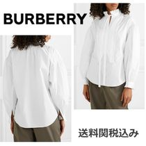 Burberry Long Sleeves Plain Cotton Elegant Style Shirts & Blouses