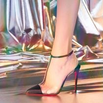 1b39c5a6949 Christian Louboutin Nosy Blended Fabrics Plain Pin Heels PVC Clothing With  Jewels