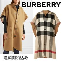 Burberry Other Check Patterns Wool Ponchos & Capes