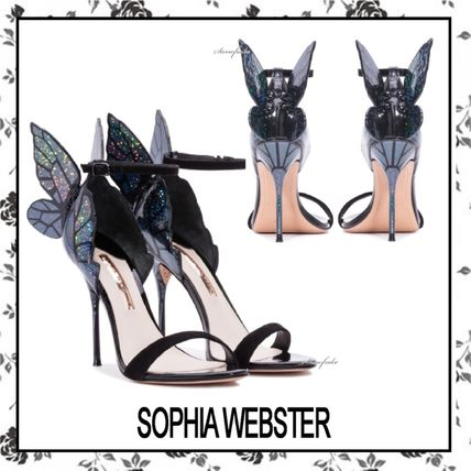 Open Toe Other Animal Patterns Leather Pin Heels Party Style