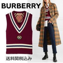 Burberry Stripes Wool Elegant Style Vests
