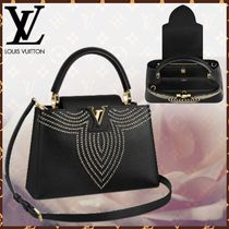 Louis Vuitton CAPUCINES Blended Fabrics 3WAY Bi-color Leather With Jewels
