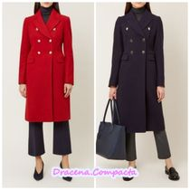 Hobbs London Wool Plain Elegant Style Chester Coats