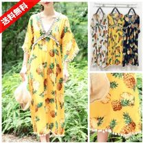 Tropical Patterns Fringes Beach Cover-Ups