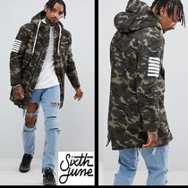 Sixth June Camouflage Street Style Long Parkas