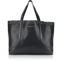 Jimmy Choo Star Unisex Studded Street Style A4 Leather Totes