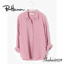Ron Herman Casual Style Blended Fabrics Long Sleeves Plain Cotton