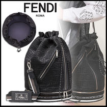 FENDI MON TRESOR Blended Fabrics Street Style 2WAY Leather