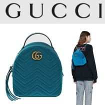 c715dbd087a8 GUCCI GG Marmont Plain Elegant Style Backpacks