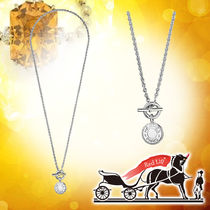 HERMES Street Style Chain Silver Necklaces & Chokers