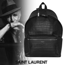 Saint Laurent Plain Other Animal Patterns Leather Backpacks