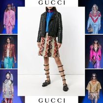 GUCCI Blended Fabrics Street Style Other Animal Patterns Leather