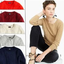 J Crew Crew Neck Cashmere Long Sleeves Cashmere