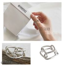 Casual Style Street Style Chain Silver Rings