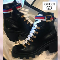 GUCCI Casual Style Street Style Plain Leather Handmade