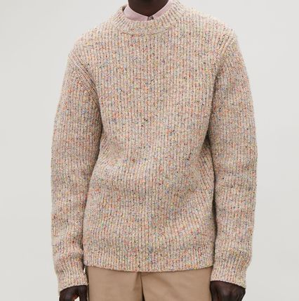 COS Knits & Sweaters Crew Neck Wool Long Sleeves Plain Knits & Sweaters