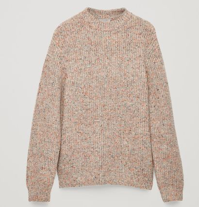 COS Knits & Sweaters Crew Neck Wool Long Sleeves Plain Knits & Sweaters 2