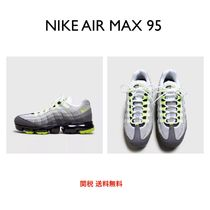 Nike AIR MAX 95 Round Toe Lace-up Casual Style Plain Low-Top Sneakers