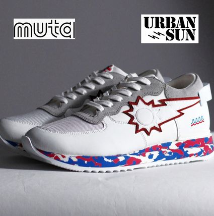 Street Style Collaboration Leather Sneakers