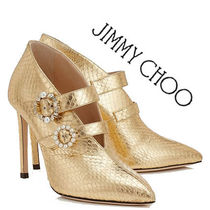Jimmy Choo Pin Heels Python Elegant Style Ankle & Booties Boots