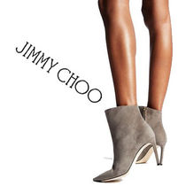 Jimmy Choo Suede Plain Pin Heels Elegant Style Ankle & Booties Boots