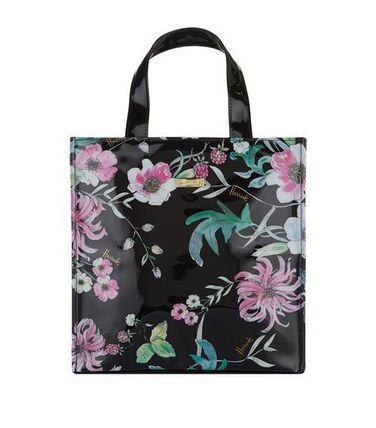 Flower Patterns Casual Style Unisex PVC Clothing Totes