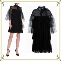 VALENTINO Short Short Sleeves Party Style Dresses