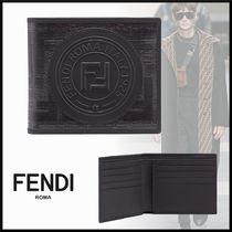 FENDI Blended Fabrics Leather Folding Wallets
