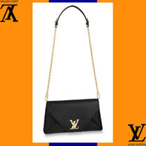 Louis Vuitton Casual Style 2WAY Plain Leather Handmade Shoulder Bags