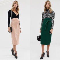 ASOS Pencil Skirts Casual Style Plain Medium Midi Skirts