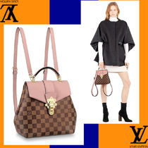 Louis Vuitton Casual Style Plain Leather Handmade Backpacks