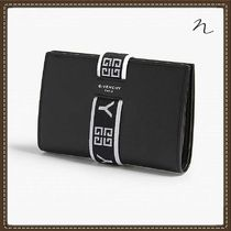 GIVENCHY Unisex Plain Leather Folding Wallets