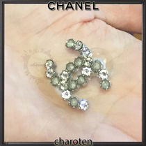CHANEL ICON Costume Jewelry With Jewels Elegant Style Earrings