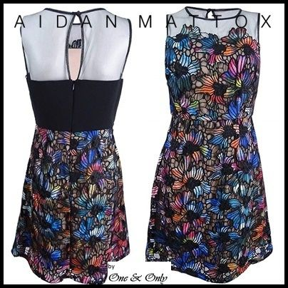 Flower Patterns Sleeveless Flared Boat Neck Medium Lace