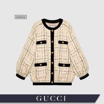 GUCCI Other Plaid Patterns Tweed Medium With Jewels Oversized