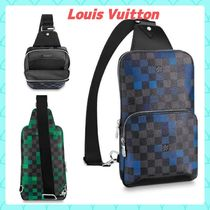 Louis Vuitton DAMIER GRAPHITE Other Check Patterns Casual Style Unisex Canvas Street Style
