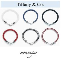 Tiffany & Co Unisex Blended Fabrics Plain Leather Bracelets
