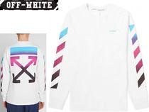 Off-White Crew Neck Pullovers Street Style Long Sleeves Plain Cotton