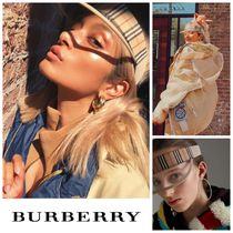 Burberry Unisex Street Style Hats & Hair Accessories