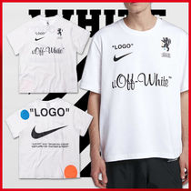 Off-White Crew Neck Street Style Collaboration Short Sleeves