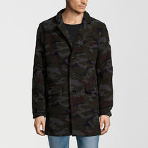 DSTREZZED Camouflage Wool Street Style Long Chester Coats
