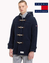 Tommy Hilfiger Street Style Plain Duffle Coats