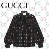 GUCCI Puffed Sleeves Medium Elegant Style Shirts & Blouses