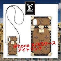 Louis Vuitton Monogram Unisex Leather With Jewels Smart Phone Cases