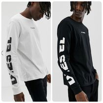 DIESEL Pullovers Street Style Plain Cotton Short Sleeves Shirts
